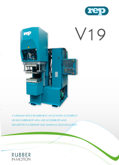 columnless V19 C-frame moulding machine